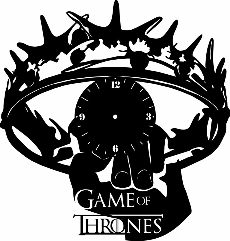 Laser Cut Game Of Thrones Clock Free CDR Vectors Art