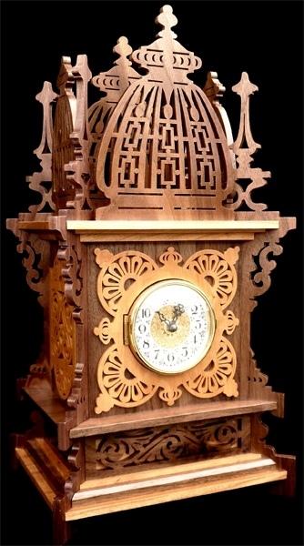 Laser Cut Wooden Table Clock Free CDR Vectors Art