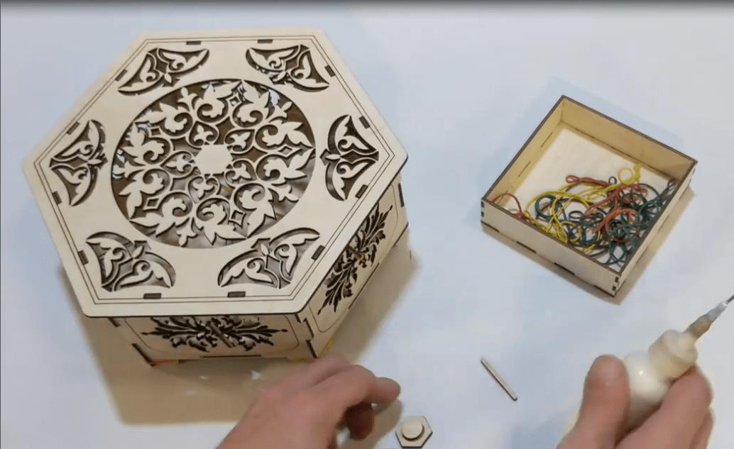 Laser Cut Box Template Drawings Free CDR Vectors Art