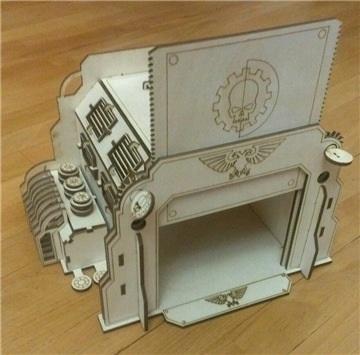 Laser Cut Box With Mechanical Door Drawing Free CDR Vectors Art