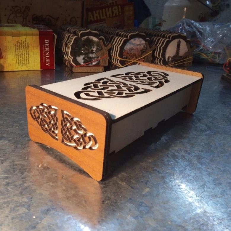 Laser Cut Decorative Gift Box Hdf 3mm 160x60x30mm Free CDR Vectors Art