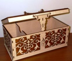 Laser Cut Jewelry Wooden Box Free CDR Vectors Art