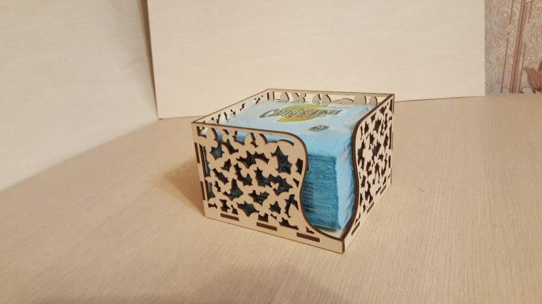 Laser Cut Napkin Box Free CDR Vectors Art