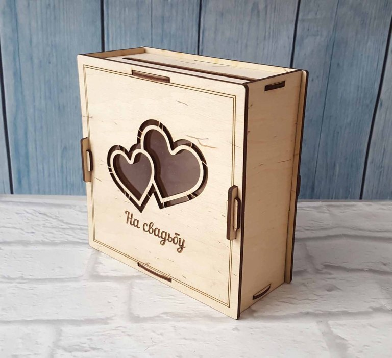 Wedding Gift Box Cnc Laser Cutting Free CDR Vectors Art