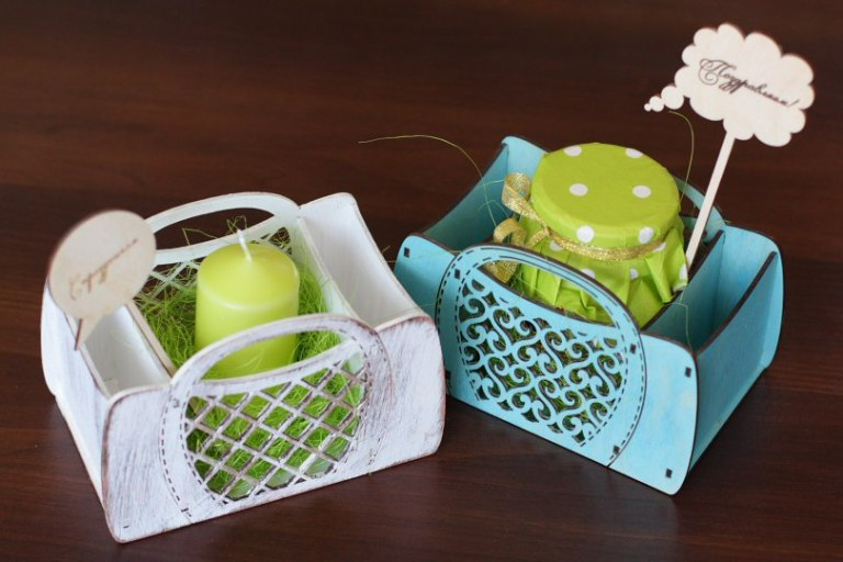 Laser Cut Basket For Spices Free CDR Vectors Art