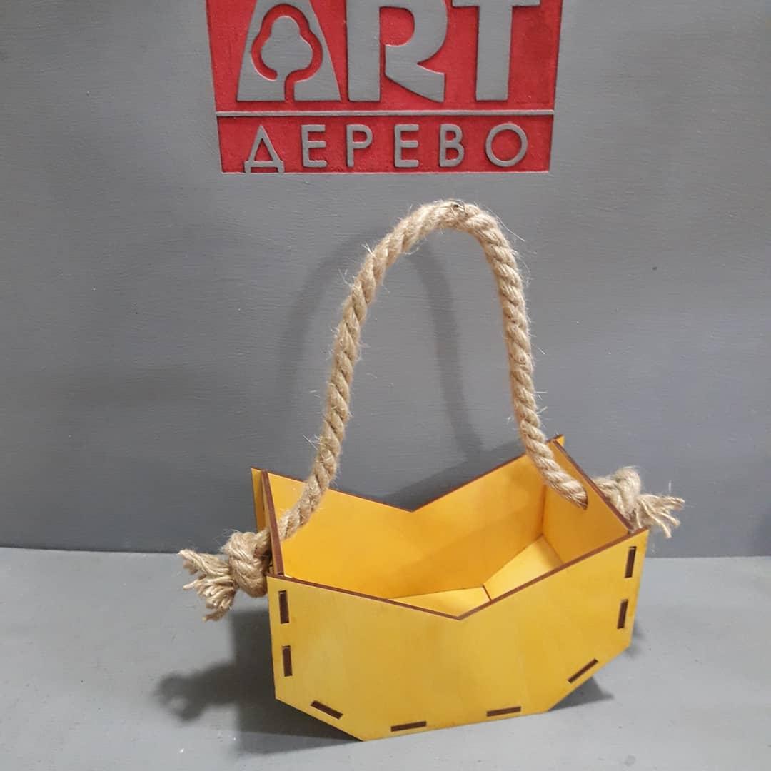 Laser Cut Hanging Flower Basket Free CDR Vectors Art