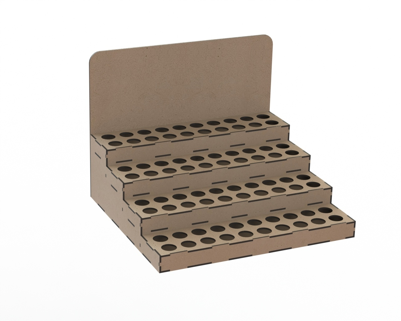 Layout For Laser Cutting Organizer For Model Paints Free CDR Vectors Art