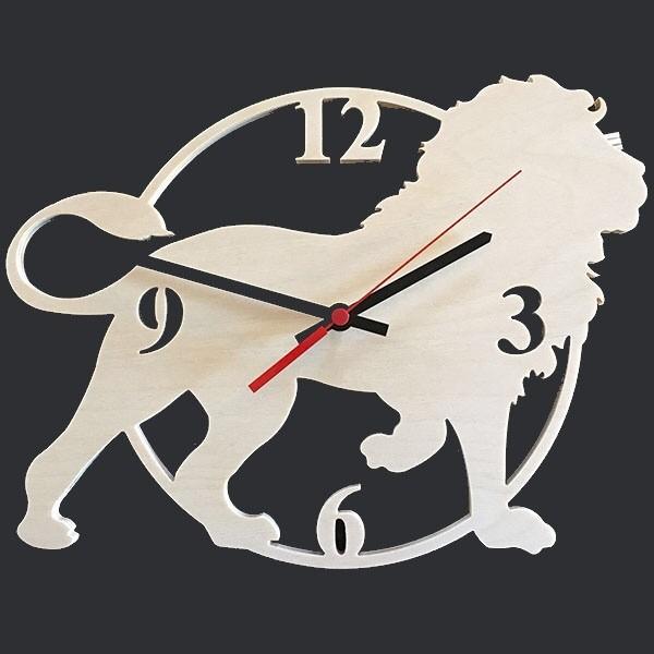 Laser Cut Lion Clock Free CDR Vectors Art