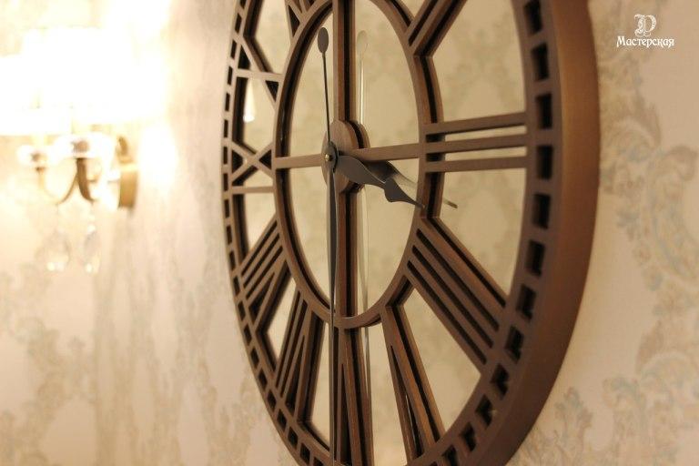 Laser Cut Roman Clock Free CDR Vectors Art