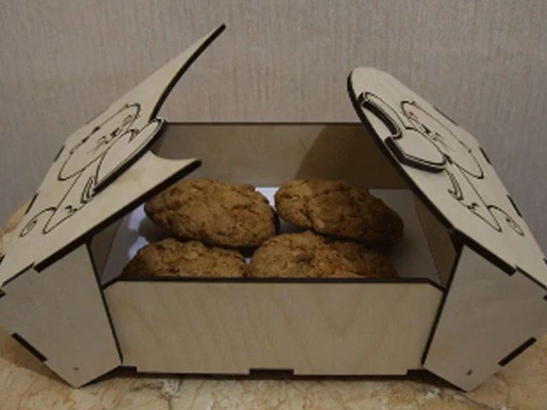 Laser Cut Cookies Box Free CDR Vectors Art