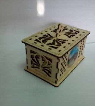 Laser Cut Decorative Plywood Box Free CDR Vectors Art
