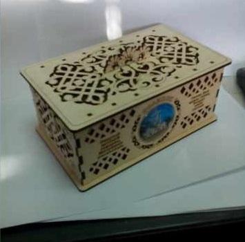 Laser Cut Decorative Plywood Jewelry Box Free CDR Vectors Art