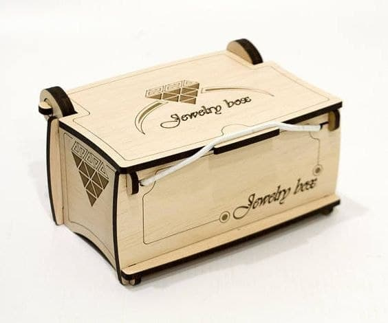 Laser Cut Jewelry Box Casket Layout Free CDR Vectors Art