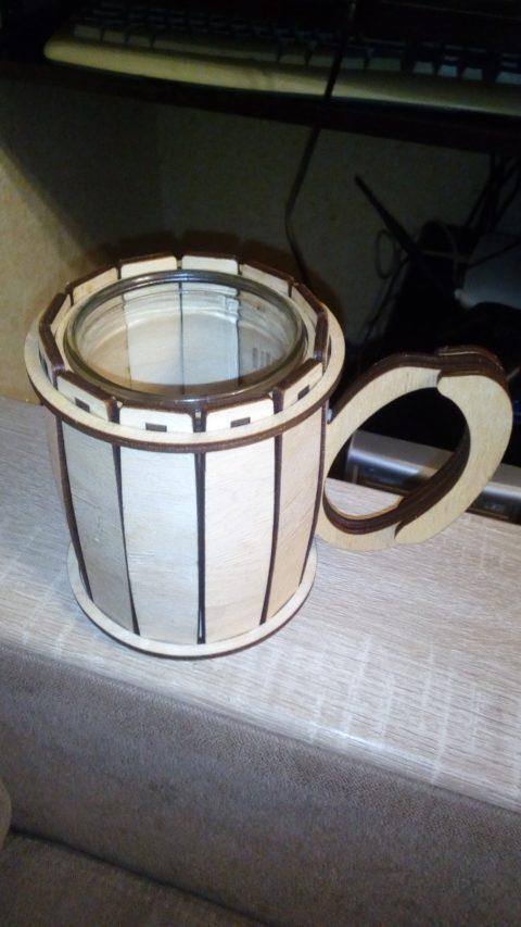 Laser Cut Cup Holder Free CDR Vectors Art