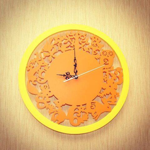 Laser Cut Animals Wall Clock Free CDR Vectors Art