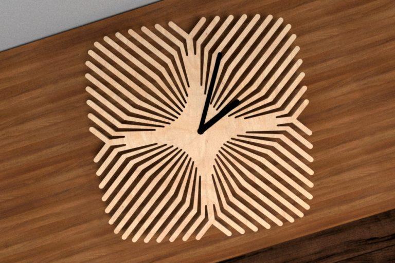 Laser Cut Pattern Clock Free CDR Vectors Art