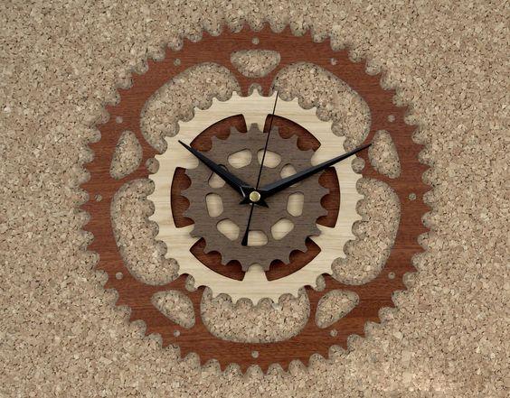 Laser Cut Wooden Gear Clock Cnc Free CDR Vectors Art