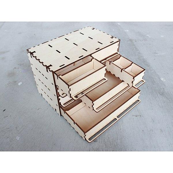 Laser Cut Customizable Parts Box Free AI File