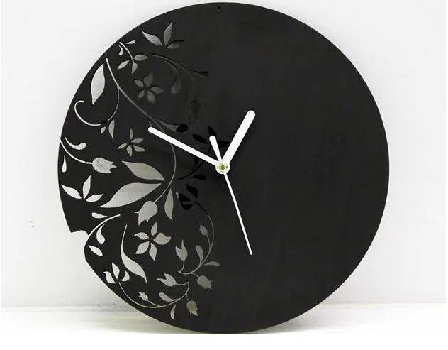 Laser Cut Floral Clock Free Ai File Free AI File