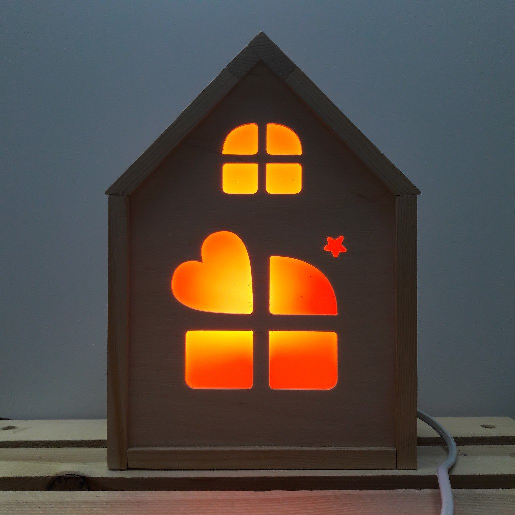 Laser Cut Home Decorative Lamp Free AI File