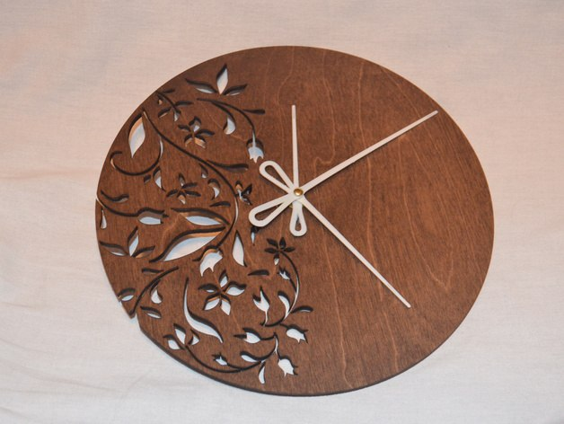 Laser Cut Layout For Round Clock Free AI File