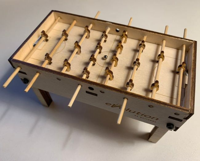 Laser Cut Layout Of Table Football Free AI File