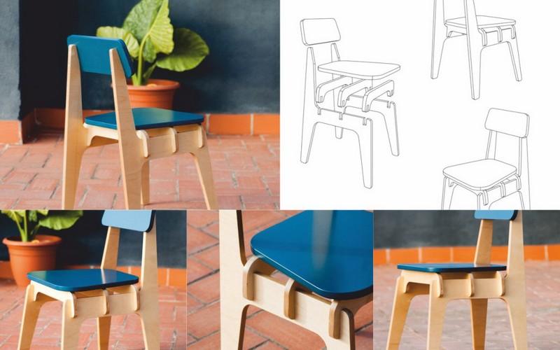 Laser Cut New Year Decor Furniture Chair Free CDR Vectors Art