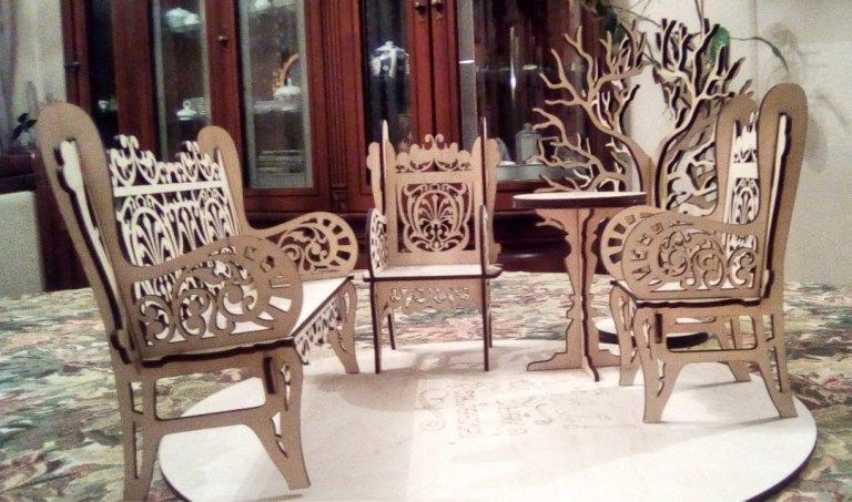 Laser Cut Chair Bench Sofa 3mm Free CDR Vectors Art