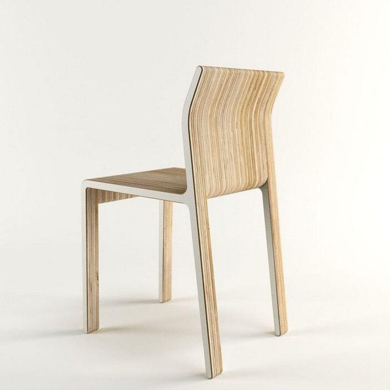 Laser Cut Wooden School Chair Free CDR Vectors Art