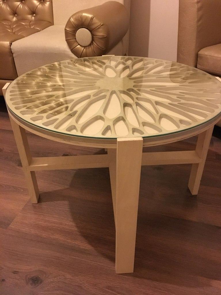 Laser Cut Coffee Table Wooden Free CDR Vectors Art