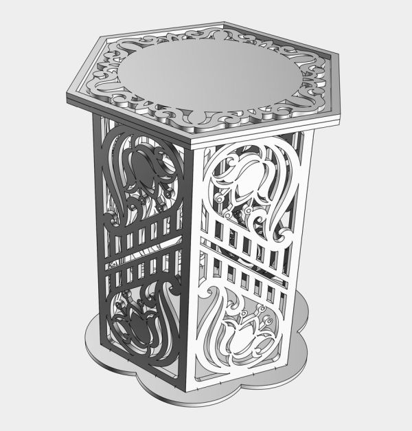 Laser Cut Furniture Coffee Table Free DXF File