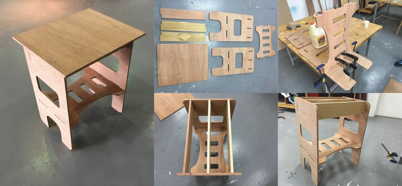 Laser Cut Side Table 2 Free DXF File