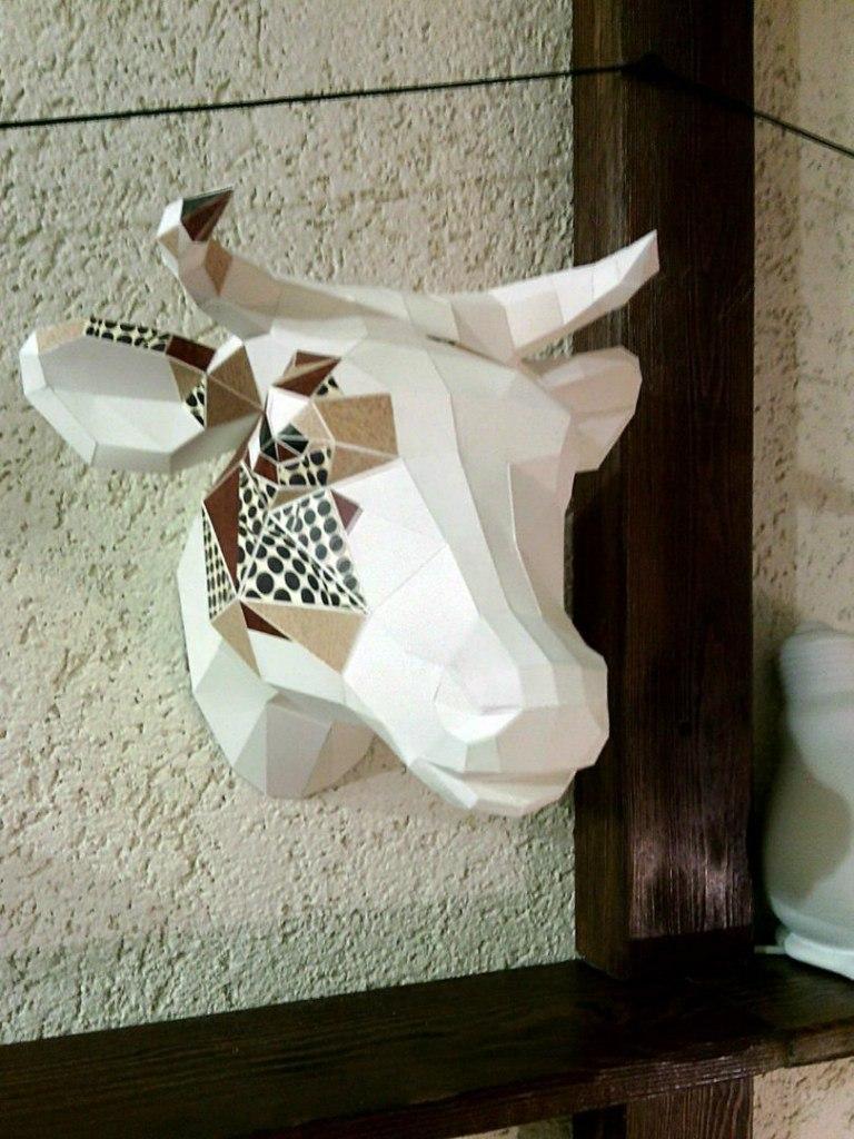 3d Cow Head Paper Craft Free PDF File