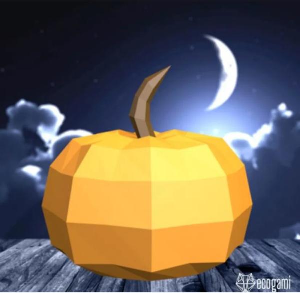 3d Pumpkin Paper Craft Pdf Template Free PDF File