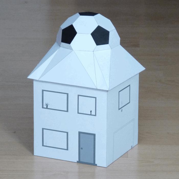 Football House Pepakura Pattern Free PDF File