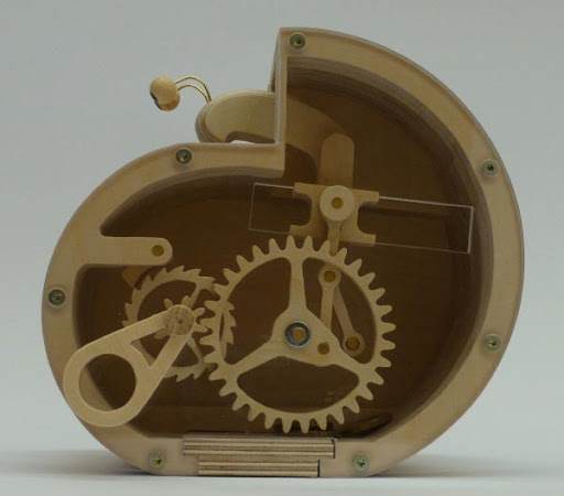 Laser Cut Bank Mechanical Snail Drawing Free PDF File