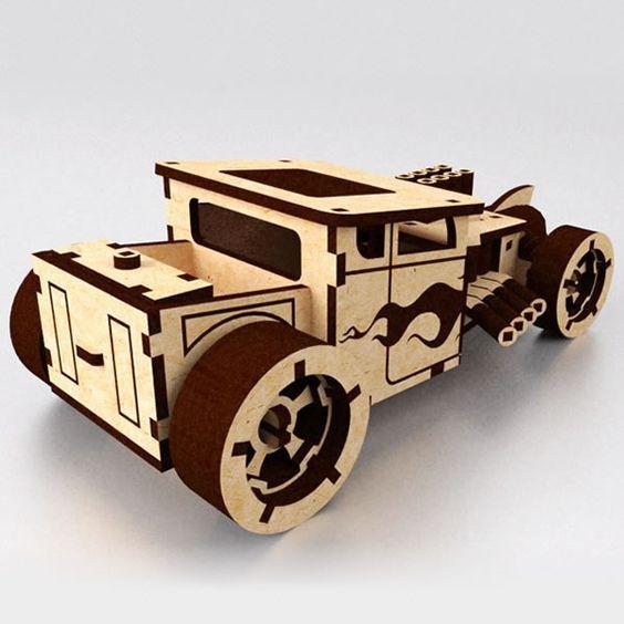 Laser Cut Bone Shaker Car Free PDF File
