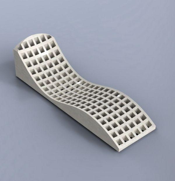 Laser Cut Garden Furniture Lounge Chair Free PDF File