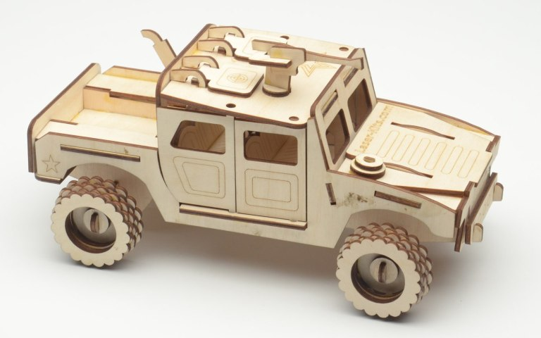 Laser Cut Humvee Puzzle Car Free PDF File