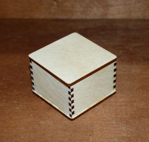 Laser Cut Blank Jewelry Box Blank Unfinished Wooden Box Free CDR Vectors Art