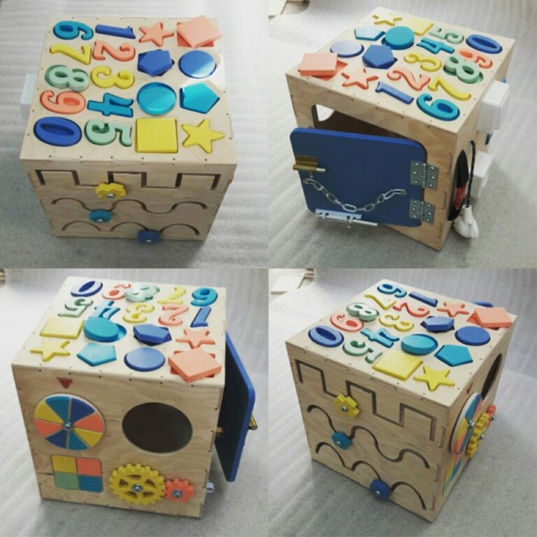Laser Cut Busy Cube Activity Toy For Kids Free CDR Vectors Art