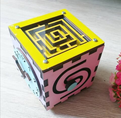 Laser Cut Busy Box Toy For Kids Free CDR Vectors Art