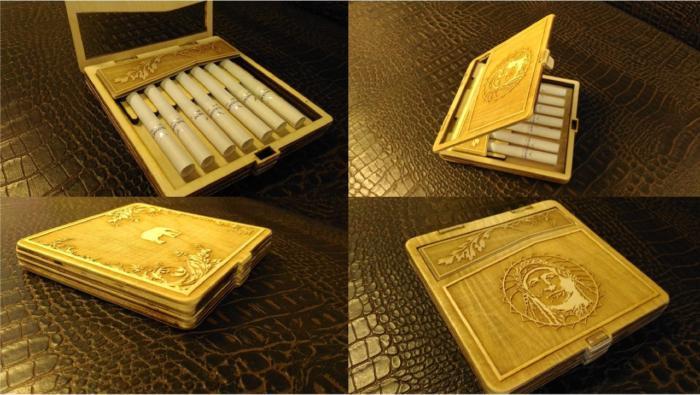 Laser Cut Cigarette Case Template Free CDR Vectors Art