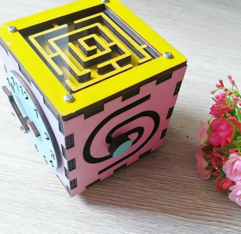 Laser Cut Cube Rubik Puzzle Game Free CDR Vectors Art