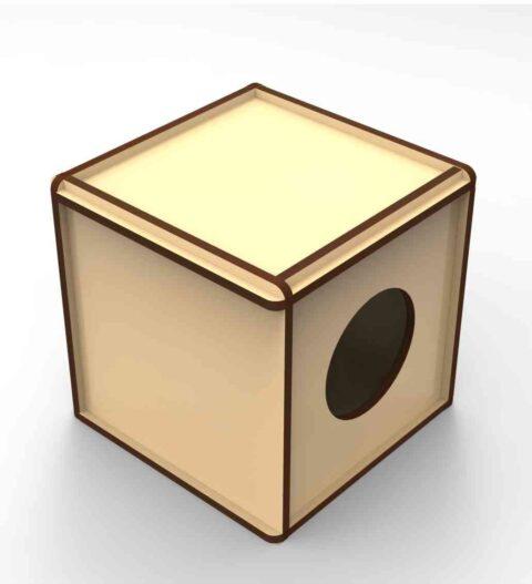 Laser Cut Rabbit Box Free CDR Vectors Art