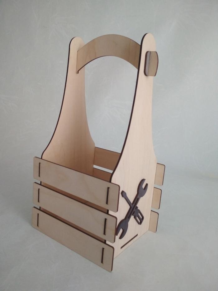 Laser Cut Wood Tools Box Free CDR Vectors Art