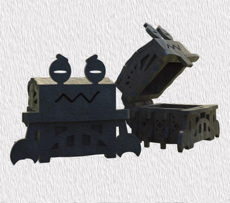 Laser Cut Wooden Crab Shape Box 4mm Free CDR Vectors Art