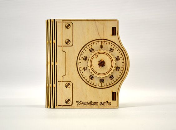 Laser Cut Wooden Safe Case Free CDR Vectors Art