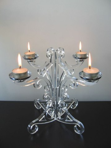 Laser Cut Candle Holder Stand Free CDR Vectors Art