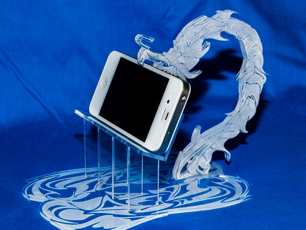 Iphone Stand Dragon Drawing Free CDR Vectors Art